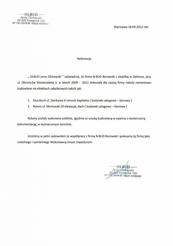 Referencje OLBUD 2012